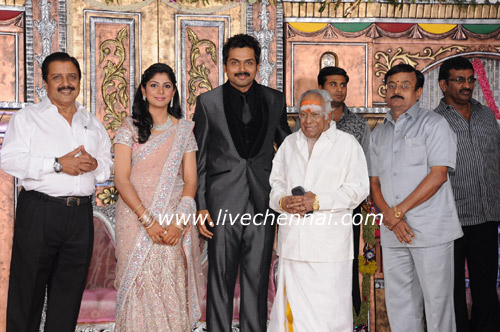 Live Chennai: Actor Karthi Ranjani Wedding Reception Gallery