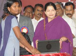 Live Chennai Jayalalitha Inaugurates Free Laptop Cattle