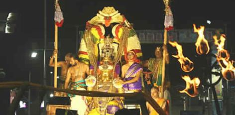 b000075d9e1 On the day of the Garuda Seva in the ongoing Tirupathi Navaratri  Brahmotsavam