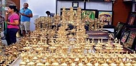 Live Chennai Brass Art Ware Exhibition At Poompuhar Sales Showroom