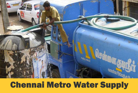 Live Chennai: Metro water supply in Chennai, Chennai private lorry