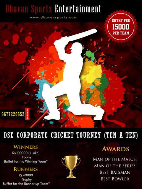 Invitation For Corporate Cricket Tournament: Live Chennai: Corporate Cricket Tournament (Feb 11
