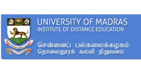 university of madras examination results