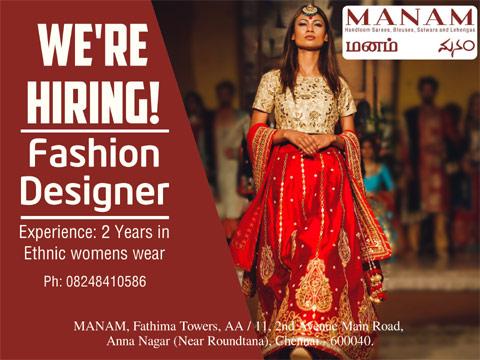 Live Chennai Wanted Fashion Designer Merchandiser In Chennai Fashion Designer Merchandiser Wanted