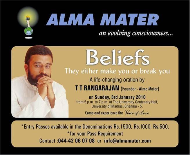 : Alma Mater T.T.Rangarajan Speakes on 03 Jan 2010 ,T.T.Rangarajan ...