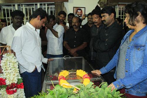 Final, actor manivannan funeral photos