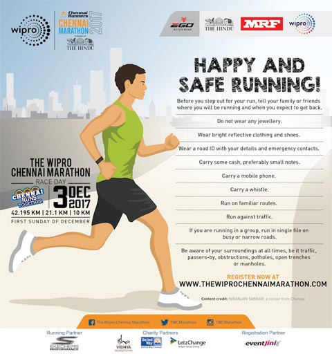 Live chennai happy safe runningtips safe runningtips for safe before you step out for your run tell your family or friends where you will be running and when you expect to get back publicscrutiny Choice Image