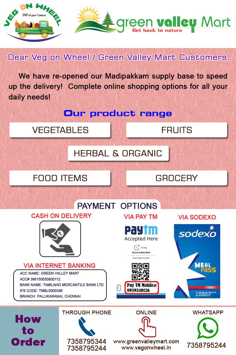 Live Chennai:Green Valley Mart Porur, Green Valley Mart, Green