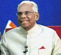 Shri Kocheril Raman Narayanan Was The President Of India From July